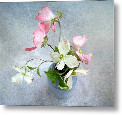 Pink And White Dogwood Still Metal Print