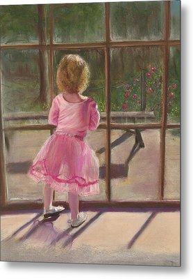 Pink Ballerina Metal Print by Kathy Wood