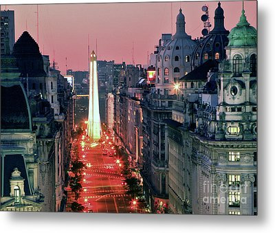 Pink Buenos Aires  Metal Print