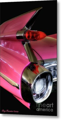 Metal Print featuring the photograph Pink Cadillac Blackout by Trey Foerster