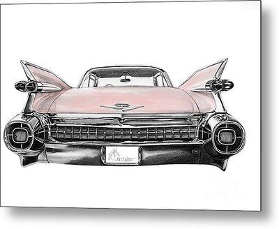 Pink Cadillac Metal Print by Murphy Elliott