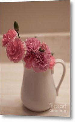 Pink Carnations Metal Print by Sherry Hallemeier
