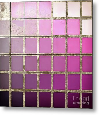 Pink Color Chart Metal Print by Mindy Sommers