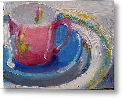 Pink Cup Metal Print by Susan Jenkins
