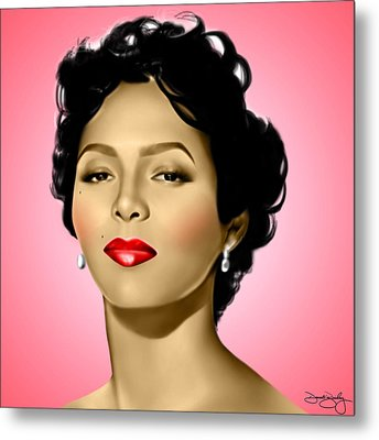 Pink Dorothy Metal Print by Davonte Bailey