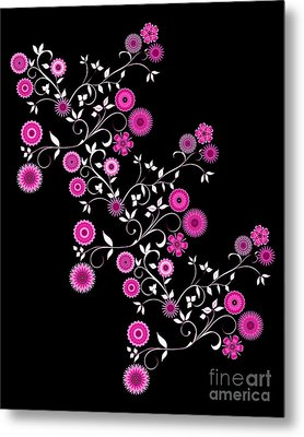 Metal Print featuring the digital art Pink Floral Explosion by Methune Hively