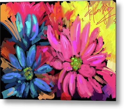 Pink Flower Metal Print by DC Langer