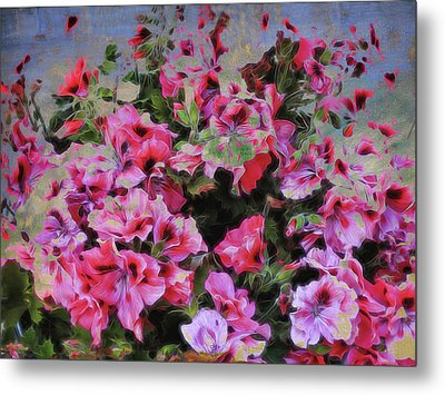 Pink Flower Fantasy Metal Print by Ann Powell