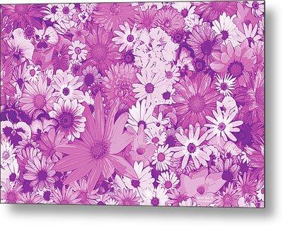 Pink Flowers Metal Print by JQ Licensing