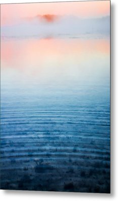 Pink Fog At Sunrise Metal Print by Shelby  Young