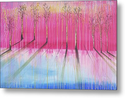 Pink Forest Metal Print by Cat Crimson