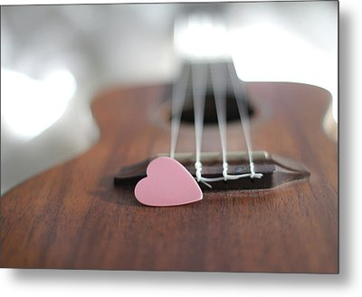 Pink Heart Metal Print by © 2011 Staci Kennelly