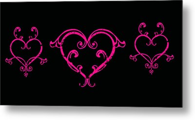 Pink Hearts  Metal Print by Swank Photography