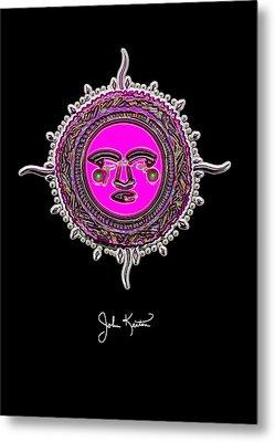 Pink Jewel Mohawk Sun Metal Print by John Keaton