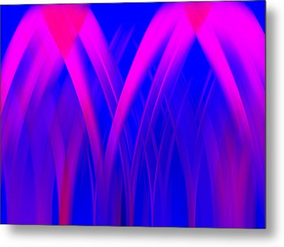 Metal Print featuring the digital art Pink Lacing by Carolyn Marshall