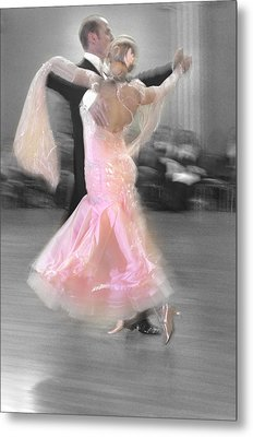 Pink Lady Dancing Metal Print by Kevin Felts