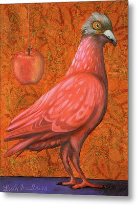 Pink Lady Metal Print by Leah Saulnier The Painting Maniac