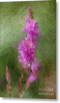 Pink Nature Abstract Metal Print by David Lane