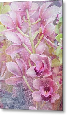 Metal Print featuring the photograph Pink Orchids by Ann Bridges
