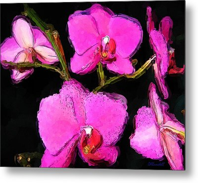 Metal Print featuring the photograph Pink Orchids by Dennis Lundell