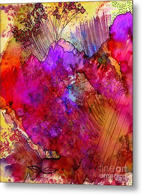 Pink Petals II Metal Print by Angela L Walker