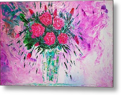 Metal Print featuring the painting Pink by Piety Dsilva
