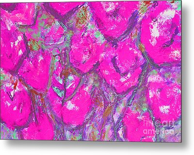 Pink Poppies Metal Print by Gallery Messina