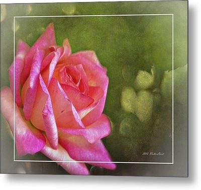 Pink Rose Dream Digital Art 3 Metal Print