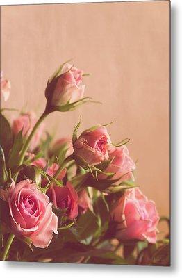 Pink Roses Metal Print by Wim Lanclus