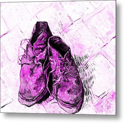 Pink Shoes Metal Print by John Stephens