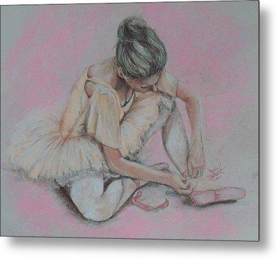 Pink Shoes Metal Print by Sandra Valentini