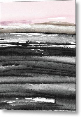 Metal Print featuring the mixed media Pink Sky Horizon- Art By Linda Woods by Linda Woods