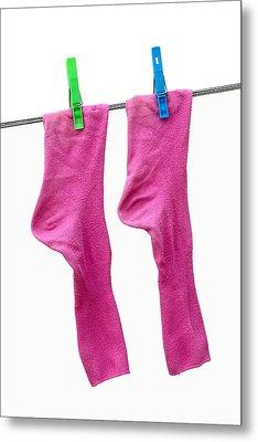 Pink Socks Metal Print by Frank Tschakert