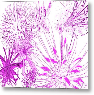 Metal Print featuring the digital art Pink Splash Watercolor by Methune Hively