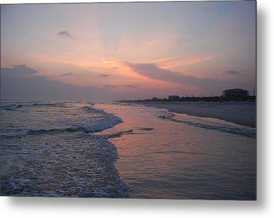 Pink Sunset Metal Print by Beverly Hammond