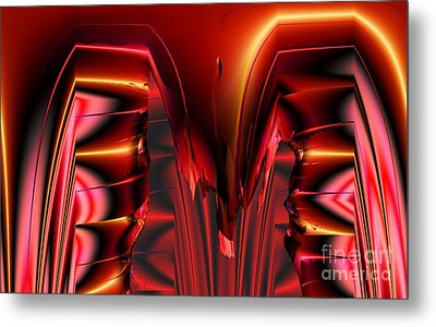 Pinned Metal Print by Ron Bissett