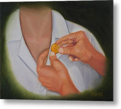 Pinning A Tradition Of Nursing Metal Print by Marlyn Boyd