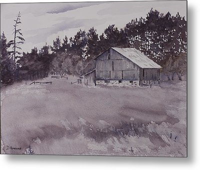 Pioneer Barn Metal Print by Debbie Homewood