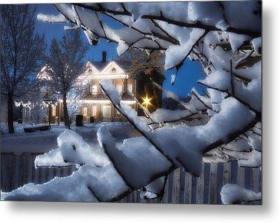 Pioneer Inn At Christmas Time Metal Print by Utah Images