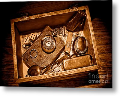 Pioneer Keepsake Box - Sepia Metal Print