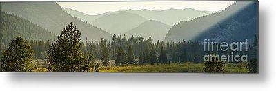 Pioneer Mountain Light Metal Print by Idaho Scenic Images Linda Lantzy