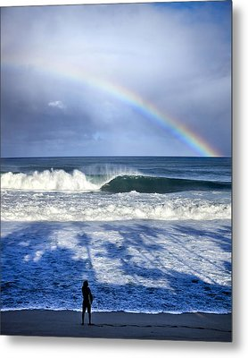 Pipe Rainbow Palms Metal Print by Sean Davey