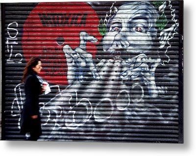 Piper At The Gates Of Portobello Metal Print by Jez C Self