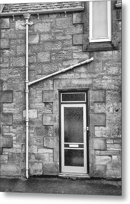 Metal Print featuring the photograph Pipes And Doorway by Christi Kraft