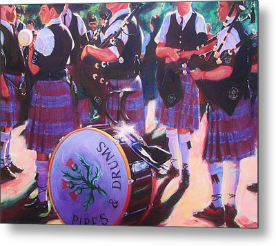 Pipes And Drums Metal Print