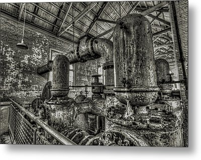 Pipes And Pumps And Pipes Metal Print
