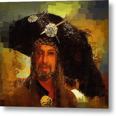 Pirate Metal Print by Clarence Alford