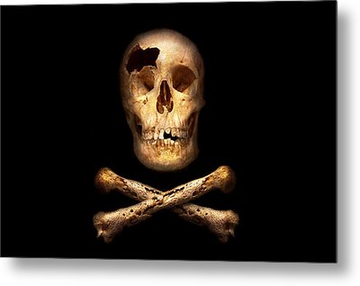 Pirate - Pirate Flag - I'm A Mighty Pirate Metal Print by Mike Savad