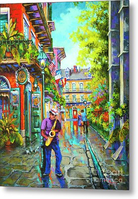 Pirate Sax  Metal Print by Dianne Parks