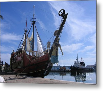 Metal Print featuring the photograph Pirate Ship - Sousse Harbour by Maciek Froncisz